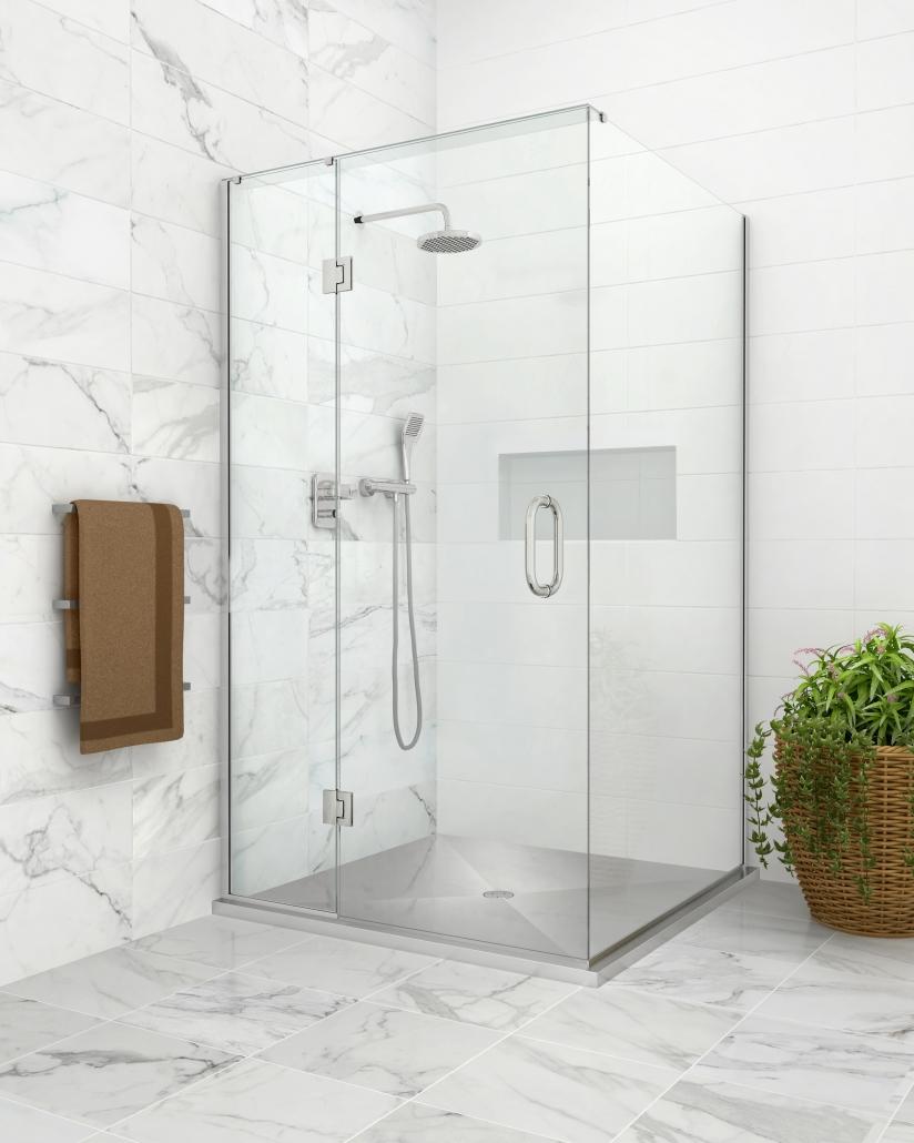 Image of the Stile Stainless Corner shower